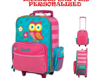 Includes Shipping!!! Personalized Stephen Joseph Sports Rolling Luggage