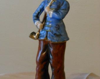 Figurine with Pipe, Handpainted