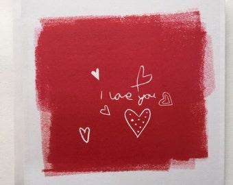 I love you Valentine Card