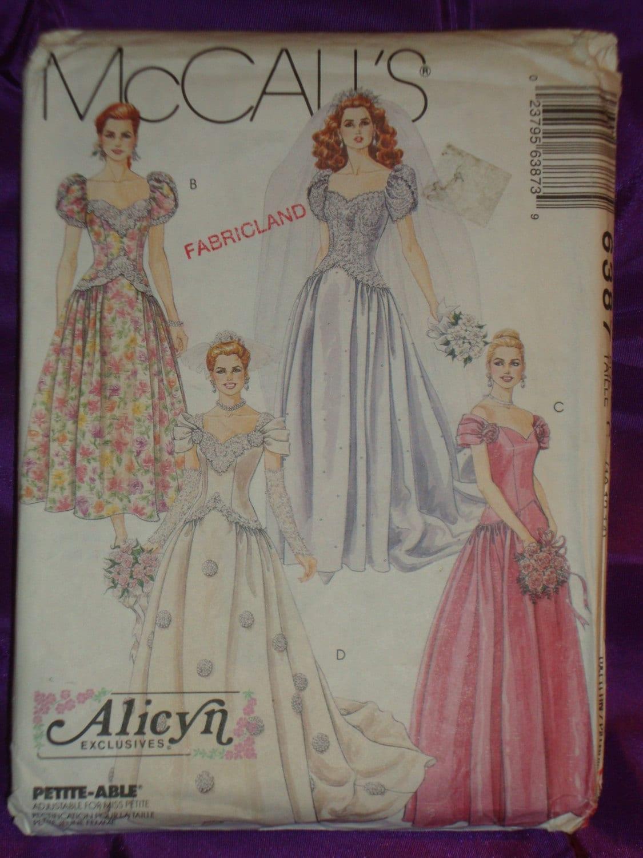 90s Vtg Alicyn Exclusives Bridal Wedding Gown W Train N