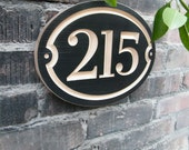 """11""""x8"""" Oval House Number Engraved Plaque (numbers only)"""