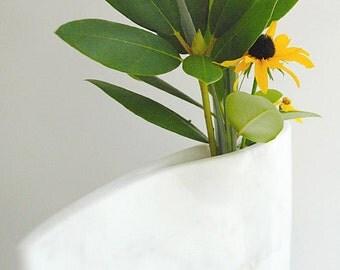 Minimalistische witte marmeren vaas gebeeldhouwd stenen Ikebana hedendaagse moderne marmeren vaas tijdloos marmer beeldhouwwerk Home Decor marmeren accessoire