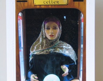 Fortune Teller with Green Crystal Ball