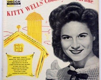 Kitty Wells' Country Hit Parade LP Vinyl Record Album, Decca - DL 8293, Country, 1956, Original Pressing
