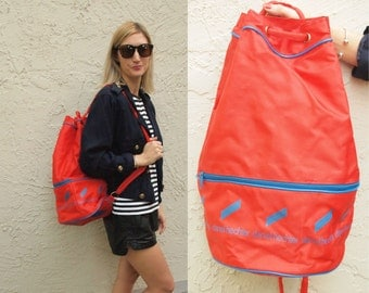 Bright Red Duffle Backpack Bag by Daniel Hechter