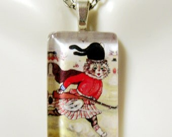 Scottish protector cat pendant and chain - CGP09-032