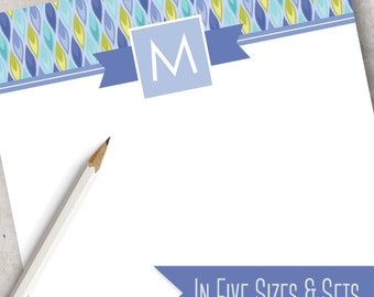 Modern Plume Custom Note Pad | Monogrammed Note Pad Available in 5 sizes and as a Set