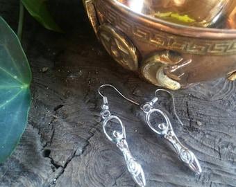 Goddess Dangle Earrings, Goddess Earrings, Fertility Goddess, Goddess, Earrings, Earrings Silver, Earrings Handmade
