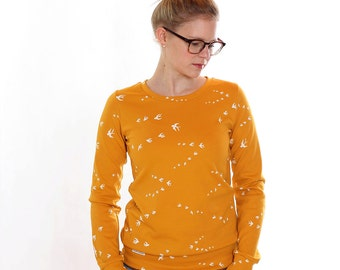 Sweater Wilma / / mustard yellow swallows