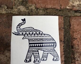 Aztec Elephant Yeti Decal | Car Decal | Laptop Decal | Mac Book Decal