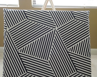 Concrete- Black+White - Pillow Cover Only (teepee NOT included)