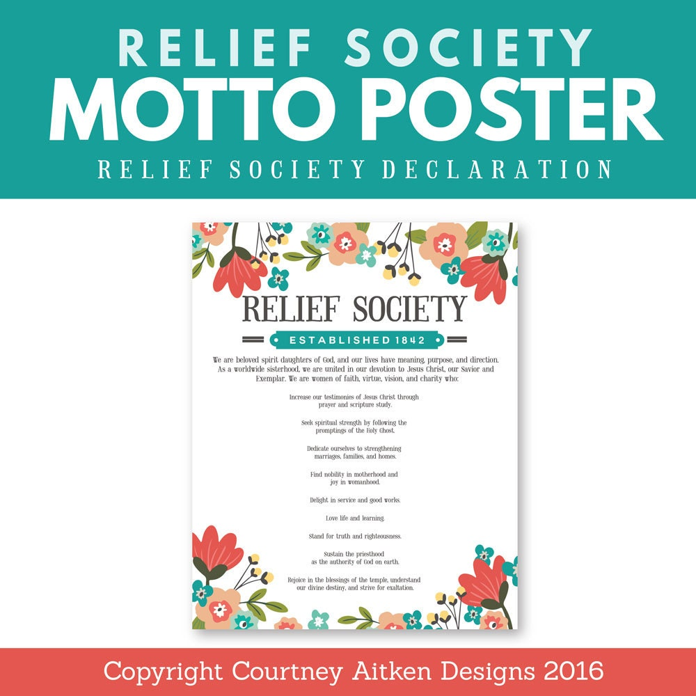 Fabulous image within relief society declaration printable