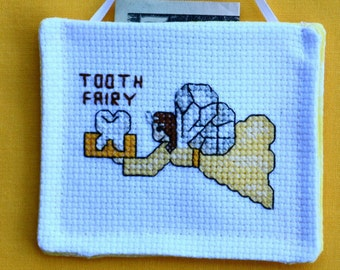 Tooth Fairy Pocket Pouch  Pillow Personalized Yellow or Any Color