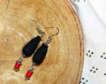 Felt Earrings - Felted Jewelry for Her - Gift for Her - Gift for Mother