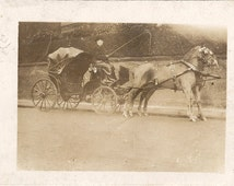 Jack's carriage , vintage transport, horse carriage, Edwardian carriage, social history, British history, collectible photo  (rppc/an5)