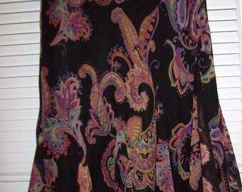 Vintage Lauren Ralph Lauren Flirty Kicky  Skirt, Stunning Vintage Find !  Size 8