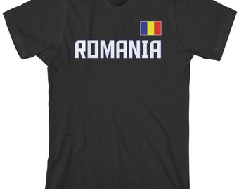 Romania National Team Men's T-shirt Romanian Republic Flag Bucharest Transylvania Soccer European Football - TA_00269