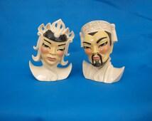 Oriental vases, planters, figures, Lotus and Manchu, 1980s, Ceramics Art Studio,
