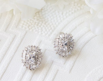 Bridal Earring, Wedding Earring, Crystal Earring, Stud Earrings, Bridal Earrings, Crystal Bridal Earring, Bridal Crystal Stud Earrings E214W
