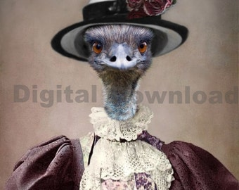 Mrs. Emu Digital Download Photo
