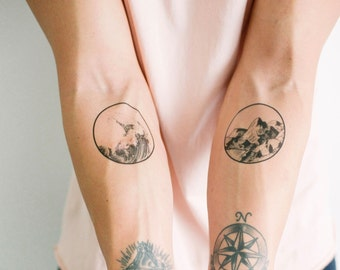 2 Nature Temporary Tattoos- SmashTat