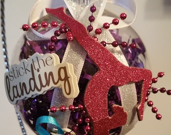 Gymnastics Christmas Ornament - Stick the Landing