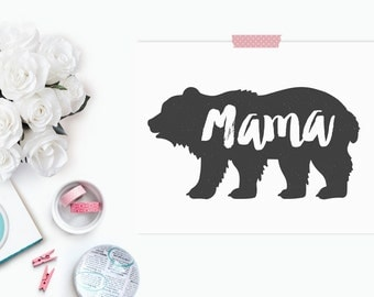 Mother's Day Gift // Mama Bear Print // Baby Shower Gift // New Mom // Expecting Mom // Mother's Day Print // The Busy Bee