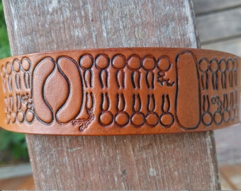 Cell membrane leather cuff