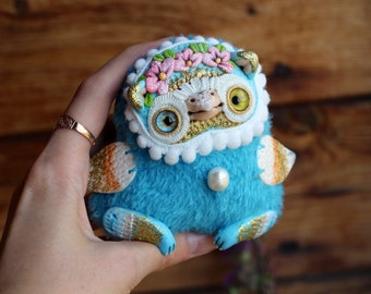 bird doll art owl ooak bird doll animal ooak cute collectible ooak doll cute owl toy bird art bird plush toy owl