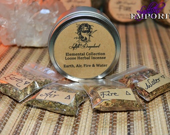 Elemental Incense Blends ~ Earth, Air, Fire & Water