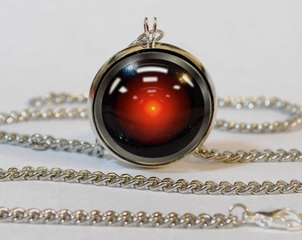 Handmade Hal 9000 2001 Space Odyssey Pendant Necklace
