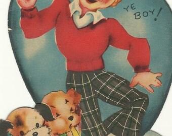 Vintage Boy Valentines Day Card
