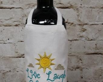 Bottle Apron (Wine) - Live, Love Laugh!!