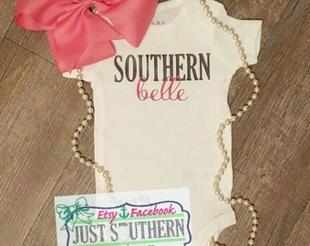 Southern Bell Baby Girl Toddler Onesie Tshirt Country