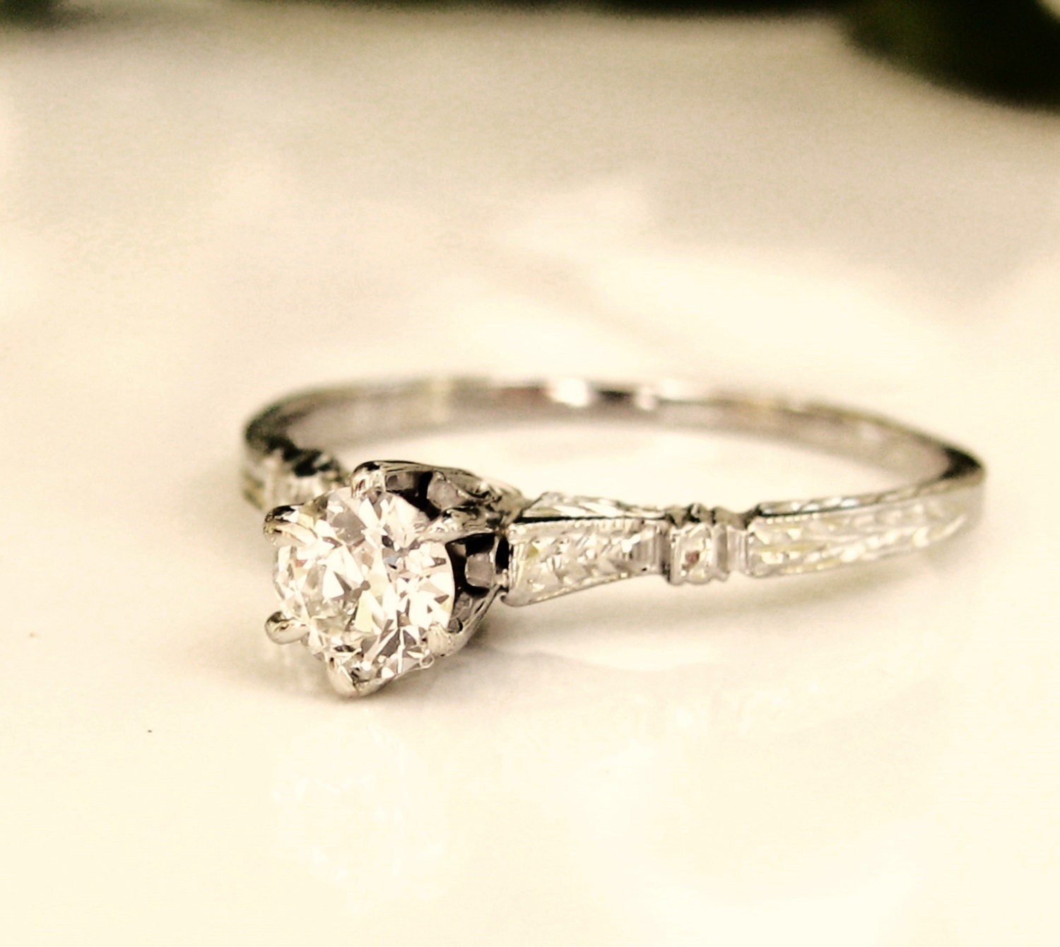 antique edwardian engagement ring 0 26ct by