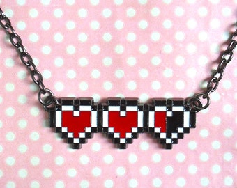 Retro Heart Container necklace