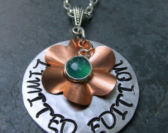 Limited Edition Stamped Metal Necklace