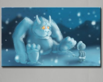 Snow Monster Limited Edition (5) Canvas Print