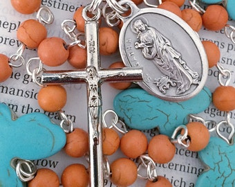 Saint Agatha Rosary Catholic Rosaries Mary Rosary St Agatha Rosary Confirmation Gift Breast Cancer
