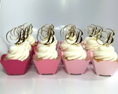 Letter Cupcake Topper, Choose your letter - Birthday, Wedding or Bridal Shower Decor, Party Decor, Acrylic, Laser Cut, Cake Topper [CCT01]