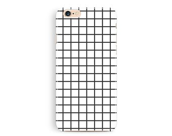 iPhone6 case, Grid Phone 6 Case, Phone Cases, 90s Phone Case, iPhone 6 Case, Hipster iPhone 6 Case, Black and White, Trendy iPhone 6 Cases