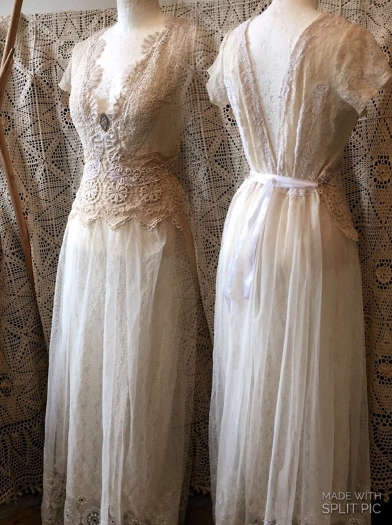 Vintage inspired wedding dress victorian cream and by ...