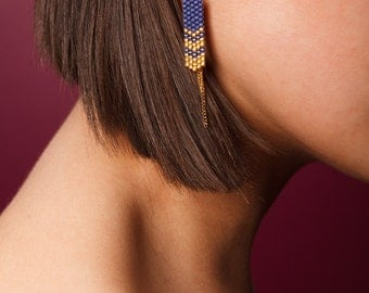 MAIA Midnight Blue earrings