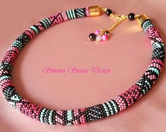 Collana in bead crochet / Bead crochet necklace