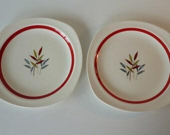 Two Midwinter Hawaii Stylecraft Dinner Plates