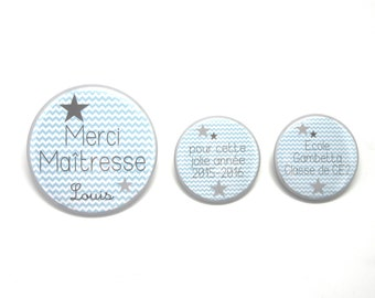 Thank you mistress - Rafters Bleus - 3 customizable Magnets Lot