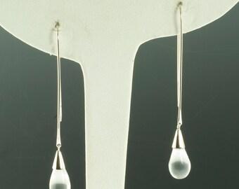 Sterling Crystal Drop Earrings