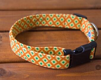 Orange Dog Collar, Male Dog Collar, Summer Dog Collar, Orange Collar, Dog Collar, Pet Accessories