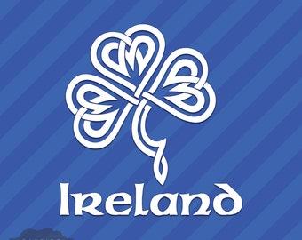 Celtic Knot Irish Ireland Shamrock Vinyl Decal Sticker St. Patrick's Day Clover