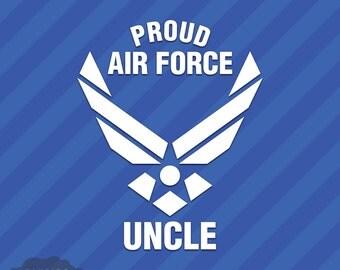 Proud Air Force Uncle Vinyl Decal Sticker